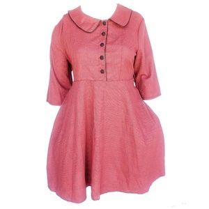Dresses & Skirts - Plus Size Pin Up Red/Black Plaid Dress NWT